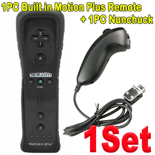 Built in Motion Plus Remote Nunchuck Controller + Case for Nintendo Wii / Wii U… 4