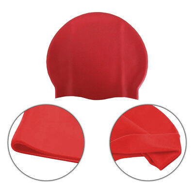 Unisex Adult & Kids Swimming Hat - Waterproof Silicone Shower Swimming Pool Cap 2