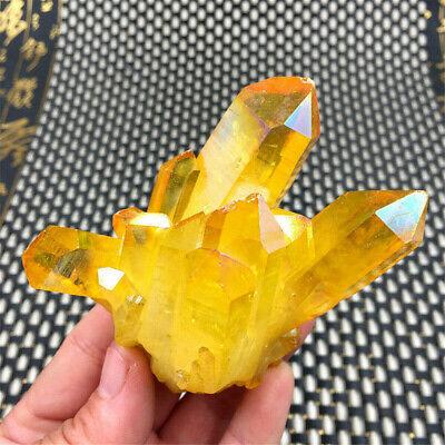 Natural Citrine Amethyst Crystal Quartz Cluster Gem Stone Healing Specimen 3