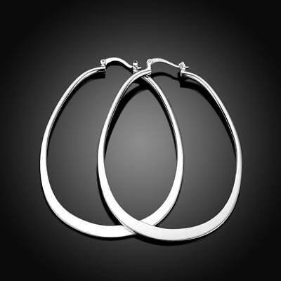 925 Sterling Silver Hoop Pierced Earrings L1 10