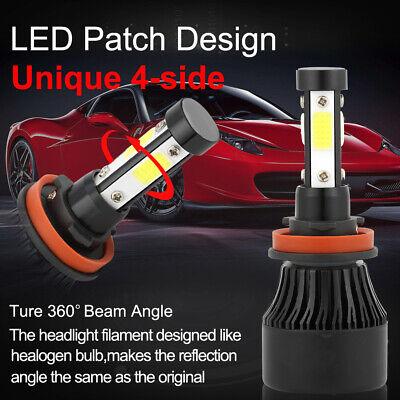 4-Side H11 LED Headlight H8 H9 Kits 2800W 380000LM Bulbs Power 6000K White Best 7