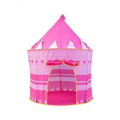 Children Kids Baby Pop Up Play Tent Boys Playhouse Indoor Outdoor Game Castle UK 7