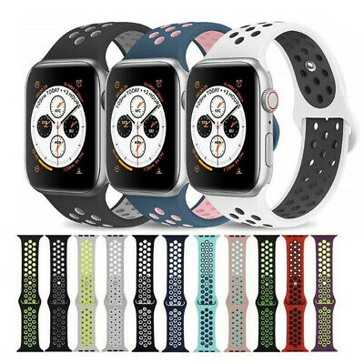 Sport Silicone Wrist iWatch Strap Band For Apple Watch SERIES 1 2 3 4 5 38-44MM 2