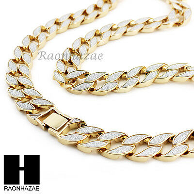 """Iced Out Miami Cuban Link 30"""" Chain / King-Tut Pendant 24"""" Rope Necklace Set C37"""