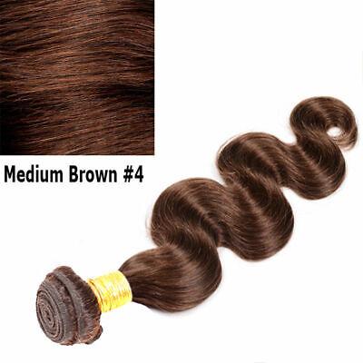 Brésilien Indien Ondulé Cheveux Humain Tissage Virgin Remy Coudre en Corps Vague 10