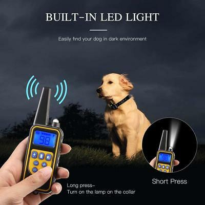 Waterproof Dog Training Electric Collar Rechargeable Remote Control 875 Yards 6