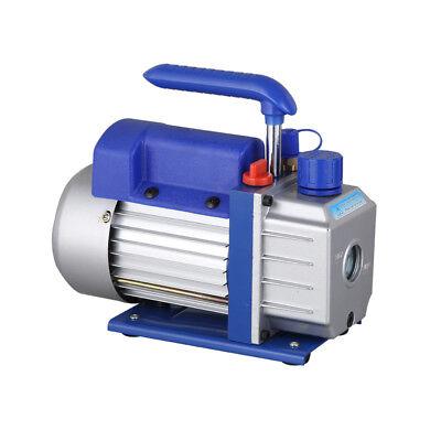 Single Stage Vacuum Pump Rotary Vane 2.5CFM 1/4HP Deep HVAC AC Air Tool Blue New 6