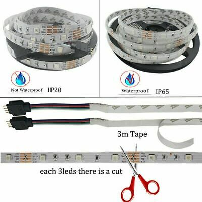 5050 Rgb Led Strip Lights Color Changing Tape Under Cabinet Lighting Waterproof 8