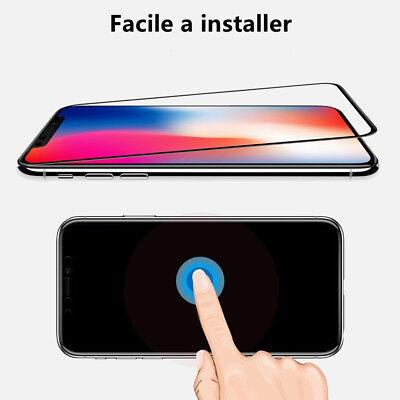 Verre Trempé Intégral Film protection écran iPhone XS Max X XR 6 7 8 + 3D Glass 4