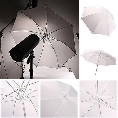 """33""""/83cm Fotos Video Studio Flash Blitz Licht Regenschirm Translucent Weiß ZY"""