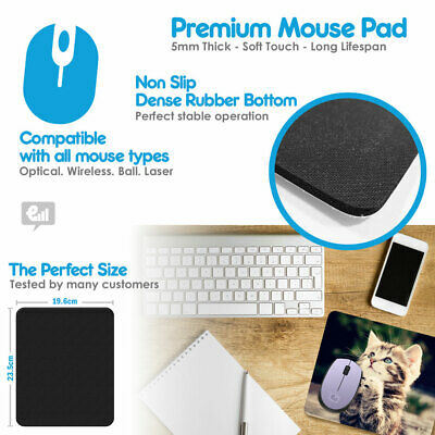 Personalised Custom PHOTO / LOGO  Mouse Mat Pad PC Computer Laptop Gift Gaming 2