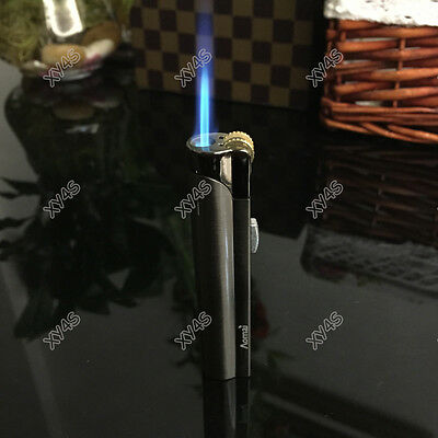 Windproof  Jet  Torch Butane Flame Cigar Cigarette Lighter w/ Lock Gray 2