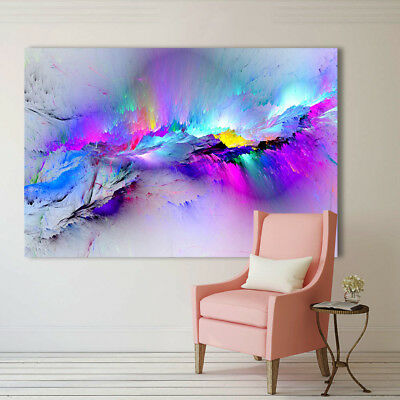 Abstract cloud colorful Love Painting Classical Canvas Print wall art home decor 2