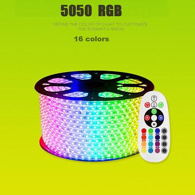 1-15M 5050SMD 230V RGB LED Stripe Set Lichtleiste Licht Schlauch Streifen IP65 4