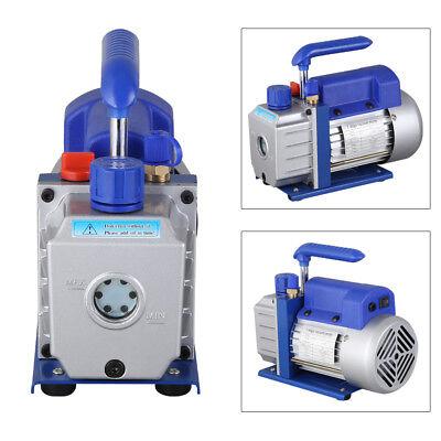 Single Stage Vacuum Pump Rotary Vane 2.5CFM 1/4HP Deep HVAC AC Air Tool Blue New 3