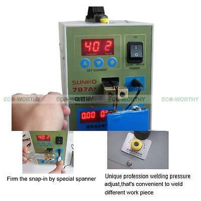 788H 60A USB LED Dual Pulse Spot Welder 18650 Battery Charger Power Bank Test US 3
