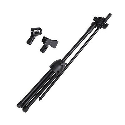 360-degree Rotating Microphone Stand Mic Clip Folding Type Boom Arm Metal Tripod 6