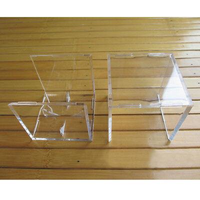 1X Acrylic Baseball Display Case Tennis Ball Care Cube Box Holder UV Protection 6