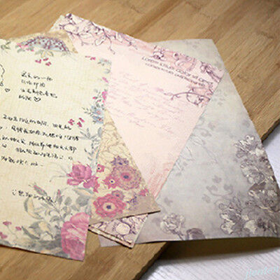 Rose Flower Writing Letter Paper Stationary Vintage Student Classic Stationery 6