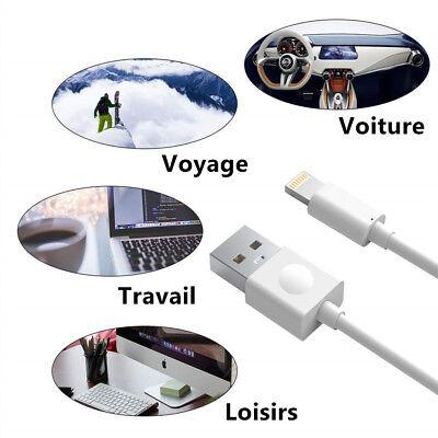 CABLE CHARGEUR USB 1 et 2 METRES IPHONE 6 6S 7 8 Plus XR X XS Max 11 Pro 5S SYNC 9