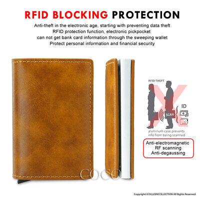 RFID Blocking Leather Credit Card Holder Case Money cash Wallet Clip Purse OZ 4