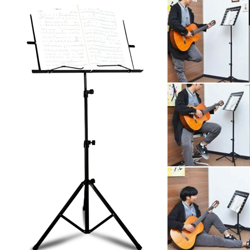 Heavy Duty Foldable Music Stand Holder Base Tripod Orchestral Conductor Sheet 7