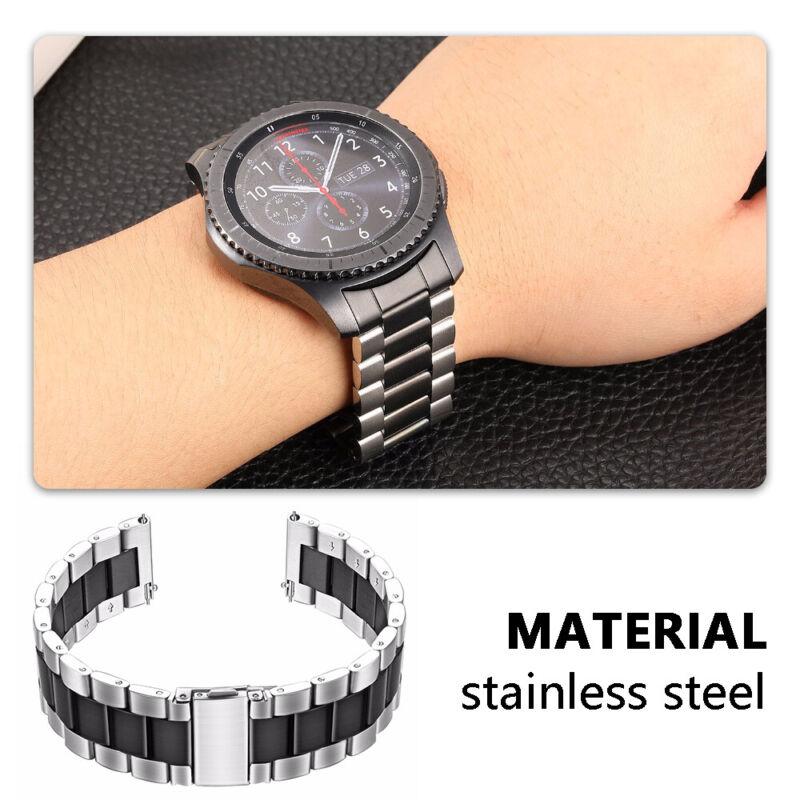 Samsung Galaxy Watch 46mm Correa reloj acero inoxidable + herramienta de enlace 8