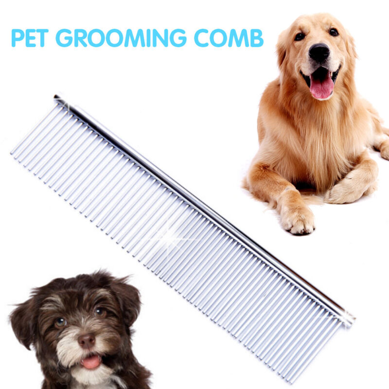 Stainless Steel Pets Comb Hair Brush Shedding Flea Cat Dog Trimmer Grooming 2