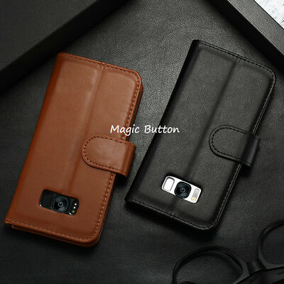 For Samsung Galaxy S9 S8 Plus S7 edge Wallet PU Leather Flip Case Card Cover 6