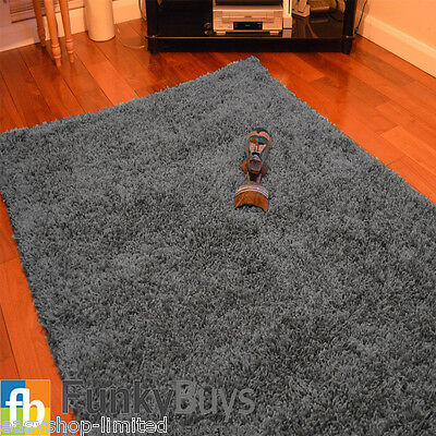Small Large XL Size Thick Plain Soft Shaggy Rugs Non Shed Modern High Pile 11