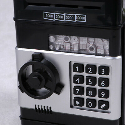 Electronic Piggy Bank ATM Password Money Box Cash Coins Saving Automatic Deposit 6
