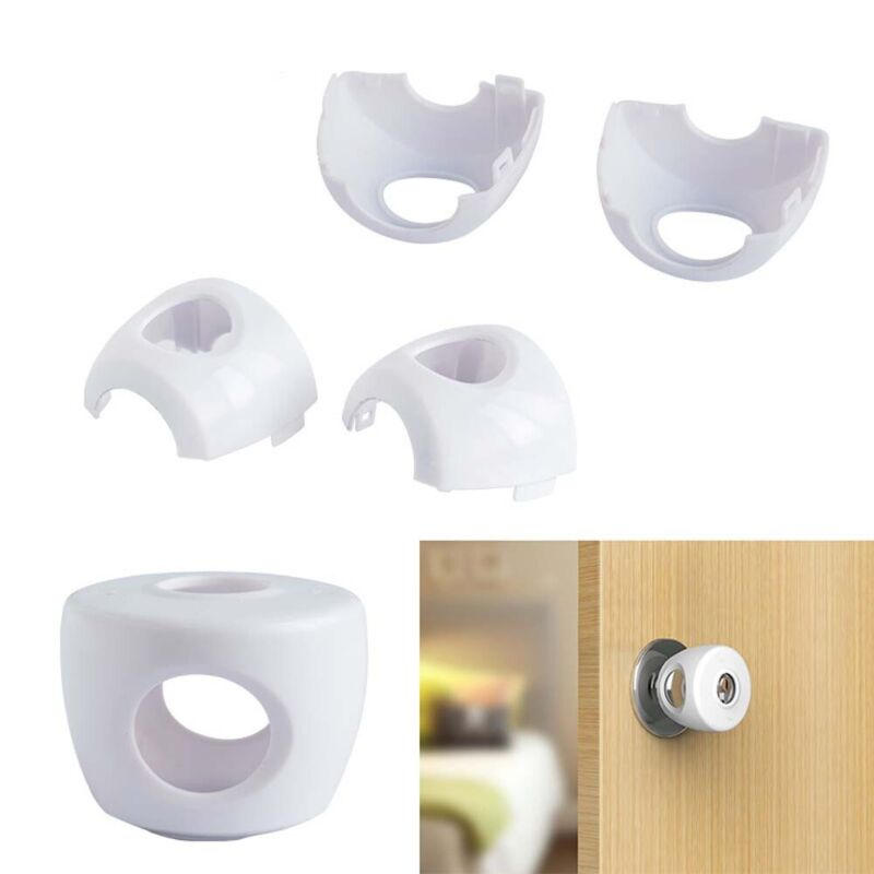Reusable Child Proof Safe Door Knob Cover Children Safety Lock Kids Toddler 8