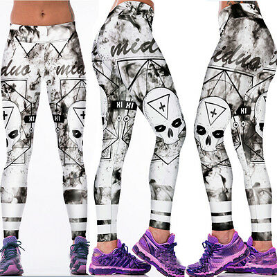 Womens Yoga Gym Stretch Trousers  Leggings Fitness Jogging Running Sports Pants