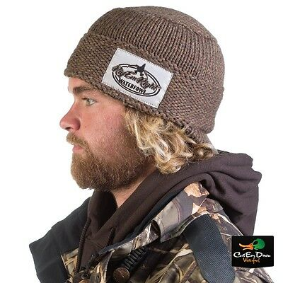 ... Rig em Right Waterfowl Heavy Weight Billed Knit Beanie Skull Cap Hat  Timber 2 4a29f4149642