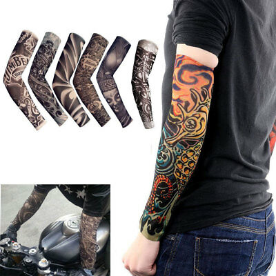 6 pcs Tattoo Cooling Arm Sleeves Cover Basketball Golf Sport UV Sun Protection 10
