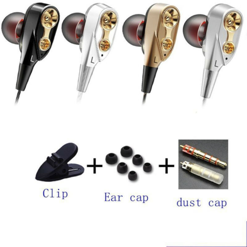 HIFI In-Ear Super Bass Stereo Earphone Earbuds Headphone Sports Headset With Mic 2