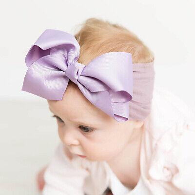 Girls Kids Baby Soft Bow Hairband Headband Sweet Turban Knot Head Wrap Cute Bow 2