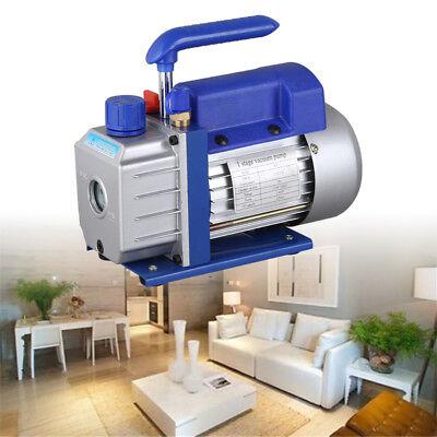 2.5CFM HVAC AC Rotary Vane 1/4HP Deep Vacuum Pump Air Refrigerant Single Stage 3