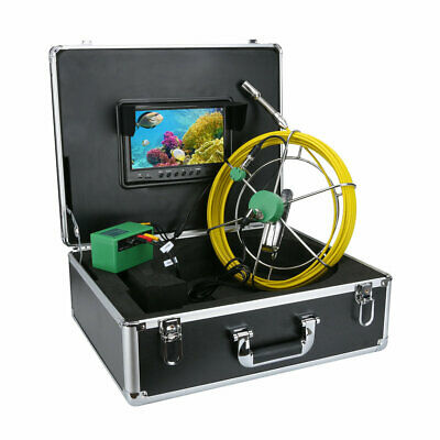 "9""LCD DVR 40M Waterproof Drain Pipe Sewer Inspection Camera System 8GB TF Card 2"