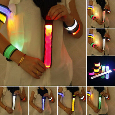 Night Lighting Belt Bike LED Safety Outdoor Sport Reflective Strap Wrap Arm Band