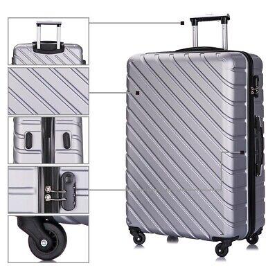 4 Piece Nested Travel Luggage Set Lightweight Suitcase Spinner Hardshell w/Lock 10