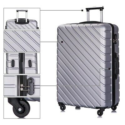 4 Piece Travel Luggage Set Lightweight Suitcase Spinner Hardshell Business Case 10