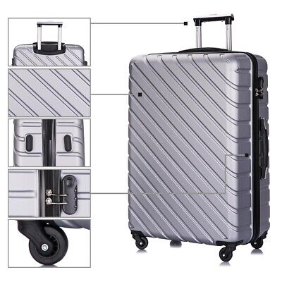 """4 piece Travel Luggage Set Suitcase Spinner Hardshell Business Case 18""""20""""24""""28"""" 9"""