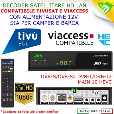 Decoder Digitale Satellitare Tivu Sat Bware Combo Hd Tivusat Con Scheda Inclusa 4