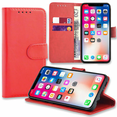 Case for iPhone 6 7 8 5s Se Plus XS Max Flip Wallet Leather Cover Magntic Luxury 3