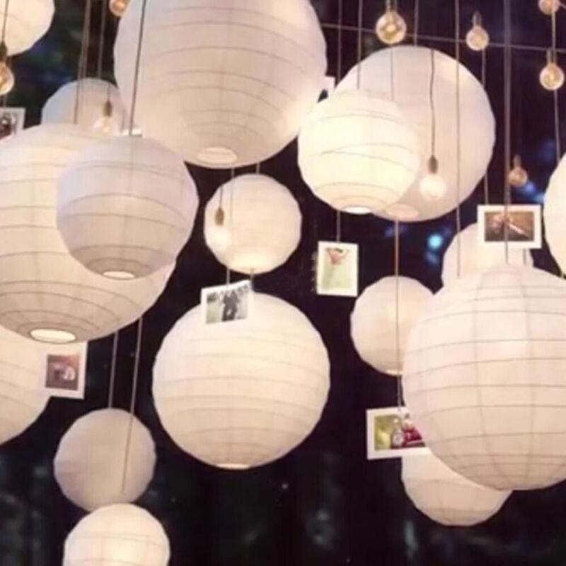 20 x Papier Laterne Lampion Papierlaterne Rund Lampenschirm Party Hochzeit Deko