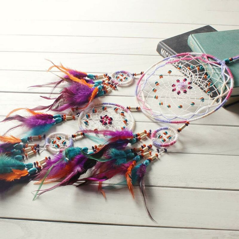 Beautiful Handmade Dream Catcher Feather Wall Hanging Home Decor Ornament Gift 6