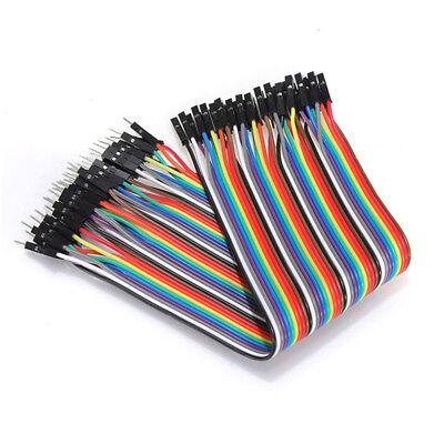 40pc 10-30cm Dupont Jumper Wire Ribbon GPIO Cable Arduino Breadboard F-F/M-M/F-M 3