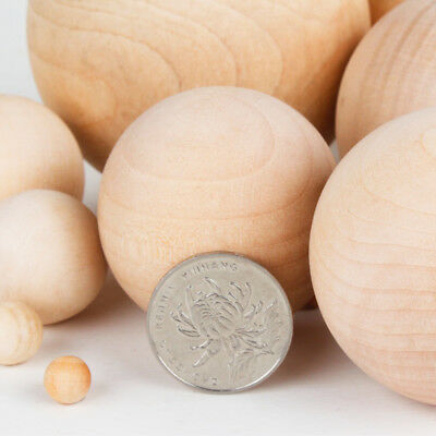 Natural Wooden Craft Wood Balls Sphere Round Craft 6mm to 60mm Dia Handmate 3