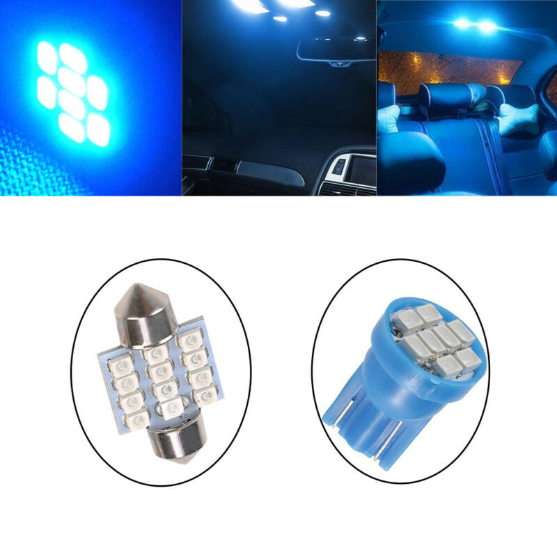 13x Auto Car Interior LED Lights For Dome License Plate Lamp 12V Kit Accessories 11